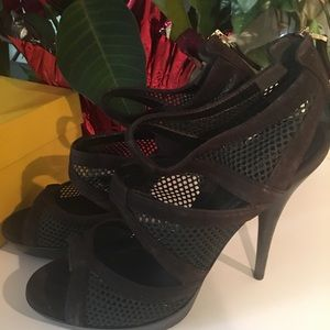 Women's Fendi dark brown sandals, size 40